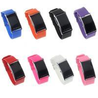 Hot LED Alarm Date Digital Watch Women Men Sports Rubber Bracelet Wrist Watch