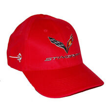 Chevrolet Corvette C7 Stingray Red Hat Cap - SHIPPED FREE IN A BOX 2014 2017
