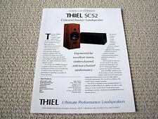 Thiel SCS2 speaker brochure catalogue