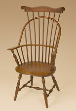 Sack Back with Comb Windsor Armchair - Cherry Wood - Dining Chair - Furniture