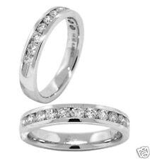 .53ct LADIES ROUND DIAMOND WEDDING BAND 14k WHITE GOLD