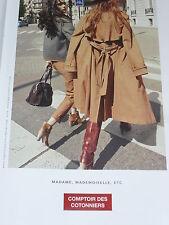 PUBLICITE ADVERTISING  2012   COMPTOIR DES COTONNIERS  pret à porter