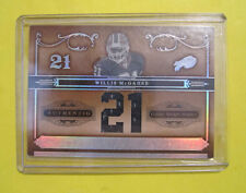 Willis McGahee 2006 Playoff National Treasures Game-Used Jersey Card. #D 14/21