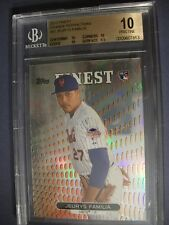JEURYS FAMILIA 2013 Topps Finest Orange Refractor #97 BGS PRISTINE 10 RC Mets/99