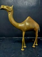 Vintage Mid Century Brass Camel Animal Figure 1lbs 2oz Figurine