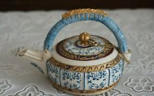 VINTAGE Nini Blue and White Hand Painted Miniature Teapot, Japan