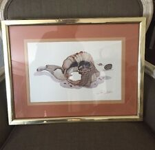 VINTAGE 70's CLINT CARTER art Shells Gold Frame Print