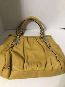 B MAKOWSKY Large  Leather Tote Satchel Handbag Shoulder Slouchy Soft Purse