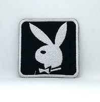 Playboy Bunny Black & White Iron Sew on Embroidered Patch Badge Logo