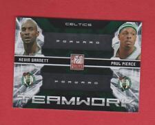 2009 Donruss Elite Boston Celtics Teamwork Card #2-Paul Pierce/Kevin Garnett