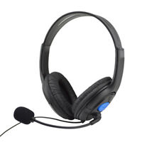 Wired Gaming Headset Headphones With Microphone For Sony PS4 Play Phone PC Note