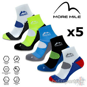 RUNNING GYM CUSHIONED SOCKS MENS WOMENS MORE MILE LONDON ANKLE CROSSFIT 5 PAIRS