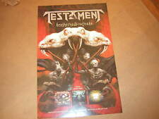 TESTAMENT PROMO POSTER 2016 BROTHERHOOD OF THE SNAKE