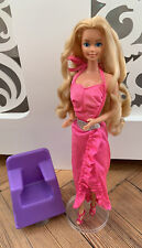 Vintage 80s Twirly Curls Barbie Doll with Original Styling Chair VVGC 💕
