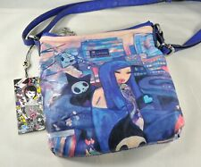 Tokidoki Blue Portrait Crossbody Bag With Tags AS IS