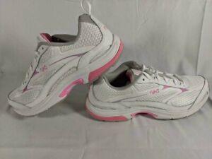 Ryka Womens Intent XT2 Running Shoe, White/Pink Sz 7, Crossfit, Walking, Comfort