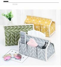 Cotton Linen Art Tissue Box Napkin Holder Cover Room Car Sofa Hotel Kitchen Deco