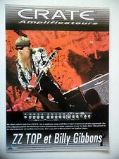 PUBLICITE-ADVERTISING :  Amplis CRATE  05/2004 ZZ TOP,Billy Gibbons