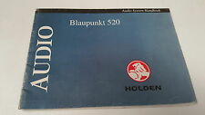 1990s ? HOLDEN CAR RADIO Owners Manual  - BLAUPUNKT 520