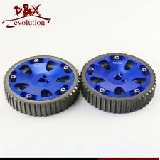 Cam Gears Pulley for Mitsubishi EVO 1 2 3 4 5 6 7 8 9 Eclipse DSM 4G63 2pcs Blue