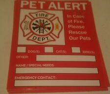 Pet Alert Sticker. Can help save a pet in case of fire. Free Shipping