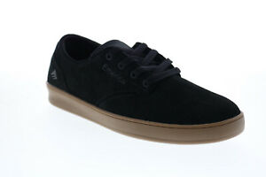 Emerica The Romero Laced Mens Black Suede Skate Inspired Sneakers Shoes 8