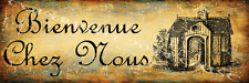 Bienvenue Chez Nous Metal Sign, , Country Home, Charming Wall Decor