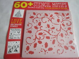 **Craft Room Clear Out**  Christmas Stencil Set