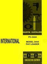 International Harvester 3444 Pay Loader Payloader Chassis Parts Catalog Manual