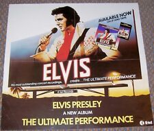 ELVIS PRESLEY U.K. RECORD COMPANY PROMO POSTER 'ULTIMATE PERFORMANCE' ALBUM 1981