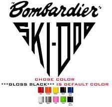 "(#614) PAIR 6.5"" Ski-Doo skidoo Bombardier Vinyl Decal stickers"