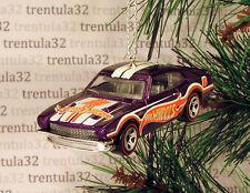 1971 FORD MAVERICK GRABBER '71 CHRISTMAS ORNAMENT Purple race car racing XMAS