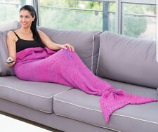 "Mermaid Tail Sofa Blanket Super Soft,Gift For Adult Embroidered""You are the best"