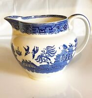 """English Blue Willow 6 1/2"""" Water Pitcher"""