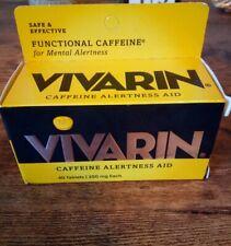 Vivarin Tablets Alertness Aid, 40 Tablets 200 mg, Exp. 9/2022