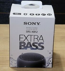 Genuine Sony SRS-XB12 Extra Bass Portable Water Proof Bluetooth Speaker (Black)