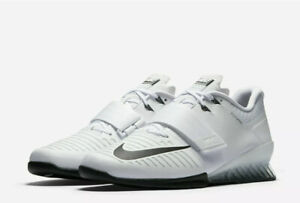 Men's Nike Romaleos 3 Weightlifting Shoes White Black Volt 852933-100 Size 12
