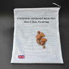25 x 25cm nylon fine net sac en faisant de kéfir, écrou lait, tisane, jus de fruits