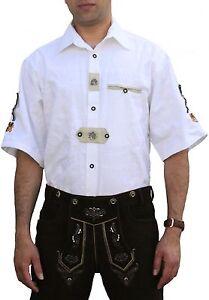 German Wear, Trachtenhemd Tracht Lederhosen Oktoberfest Trachtenmode wiesn weiß