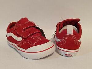 Vans New ComfyCush New Skool V Racing Red/True White Vault Toddler Size USA 5