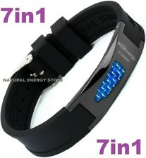 TITANIUM Magnetic Energy Armband Power Bracelet Health Bio 7in1 Bio Black 25