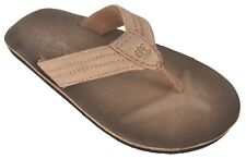 ABERCROMBIE & FITCH NUBUCK LEATHER FLIP FLOPS SIZE S SMALL NWT A&F