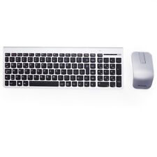 Lenovo/IBM SK-8861 UK Windows Linux PC Silver Wireless Slim Keyboard and Mouse