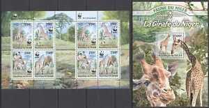 KS 2013 NIGER WWF GIRAFFES WILD ANIMALS #2142-2145 KB(2SET)+BL !!! SALE