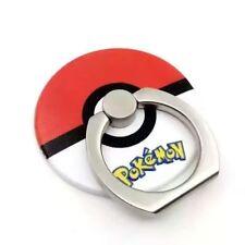 Pokemon ir poke Bola de montaje con Soporte Anillo de Dedo Grip Soporte Para Teléfono Móvil Rojo