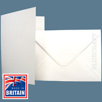 10 sets x White A5 Quality Card Blanks + C5 Envelopes - Cardmaking Projects