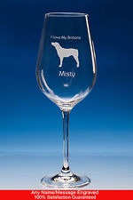 More details for brittany spaniel wine glass dog gift personalised engraved brittany spaniel gift