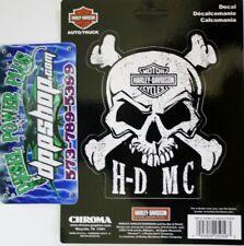 harley davidson HD MC scull cross bone motorcycle bike decal sticker bar shield