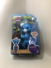 WowWee Fingerlings Baby Giraffe Lil'G Interactive Toy, 40+ Sounds, Blue