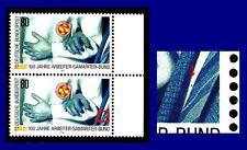 1394 I ** (Arbeiter-Samariter-Bund) Paar mit Vergleichsstück